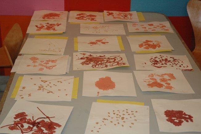 Trabajos de los docentes asistentes al curso. Museo Reina Sofía, 2008