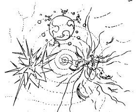 Bruno Taut. Utopía. Dibujo, 1919