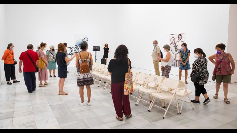Tour of Ida Applebroog. Marginalias. Museo Reina Sofía, 2021