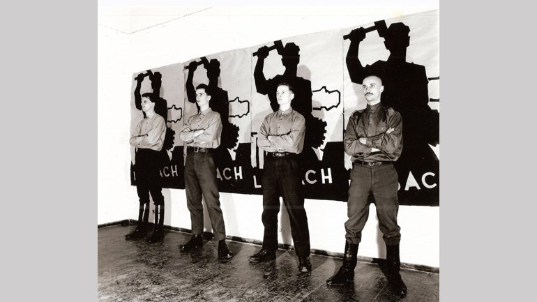 Laibach 1983. Photography: Dusian Gerlica