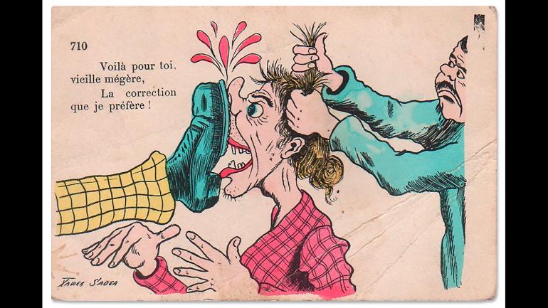 Xavier Sager, Voila pour toi, vieille mégère. La correction que je prefere! [Esto es para ti, vieja arpía. ¡El castigo que prefiero!], s.f.
