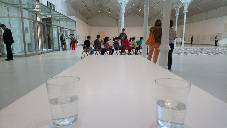 Activación de las perfomances en la exposición