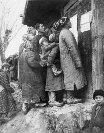Georgy Zelma.Se fotografía a los mejores mineros, 1930