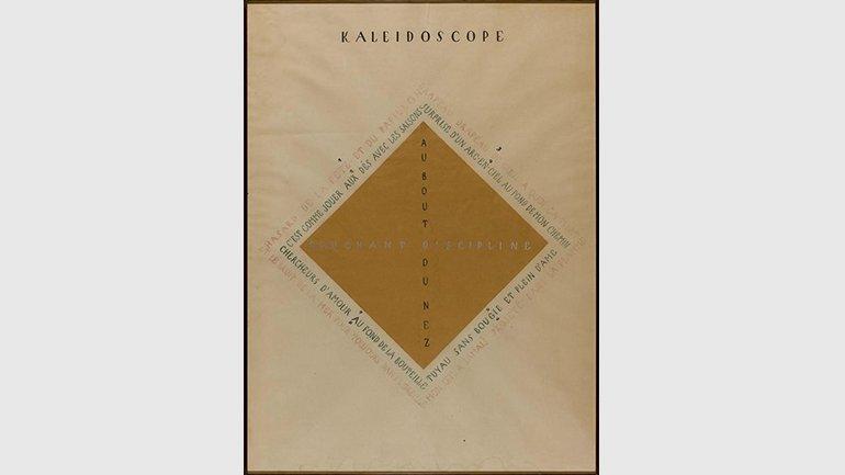 Vicente Huidobro. Kaleidoscope. Dibujo, 1921