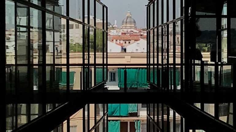 Vista del barrio de Lavapiés, Museo Reina Sofía