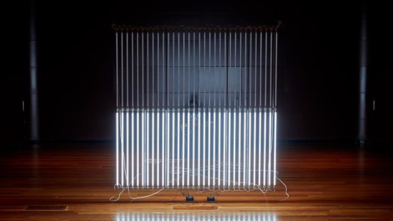 Photographs of Oscar Martín. Meta Music Machines. Museo Reina Sofía, 2021