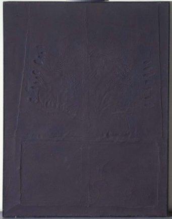 Antoni Tàpies. Marrón con huellas de dedos laterales Nº LXIII, 1958. Técnica mixta sobre lienzo. Museo Nacional Centro de Arte Reina Sofía