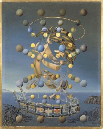 Salvador Dalí. Máxima velocidad de la Madona de Rafael, ca. 1954. Óleo sobre lienzo. Museo Nacional Centro de Arte Reina Sofía