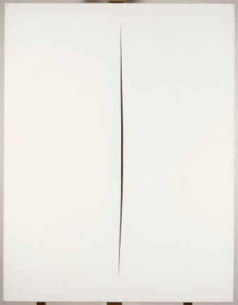 Lucio Fontana. Concetto spaziale. Attesa (Spatial Concept. Expectation), 1960. Painting. Museo Nacional Centro de Arte Reina Sofía Collection, Madrid