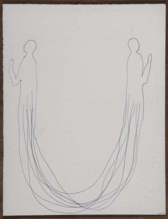 Pepe Espaliú. Sin título. Diez últimos dibujos, 1993. Dibujo. Colección Museo Nacional Centro de Arte Reina Sofía, Madrid