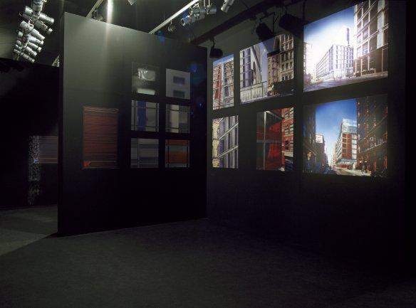 Vista de sala de la exposición. Jean Nouvel, 2002
