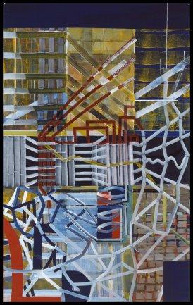 Juan Uslé. Líneas Replicantes, 1992-1993. Pintura. Colección Museo Nacional Centro de Arte Reina Sofía, Madrid