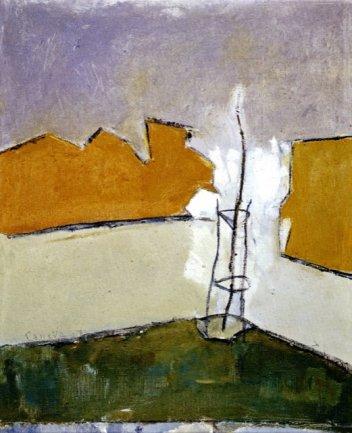 Juan Manuel Díaz Caneja. Árbol, 1983. Pintura. Colección particular, Madrid
