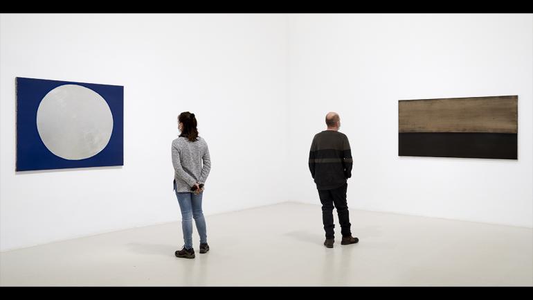 Vista de la exposición Anna-Eva Bergman. De norte a sur, ritmos