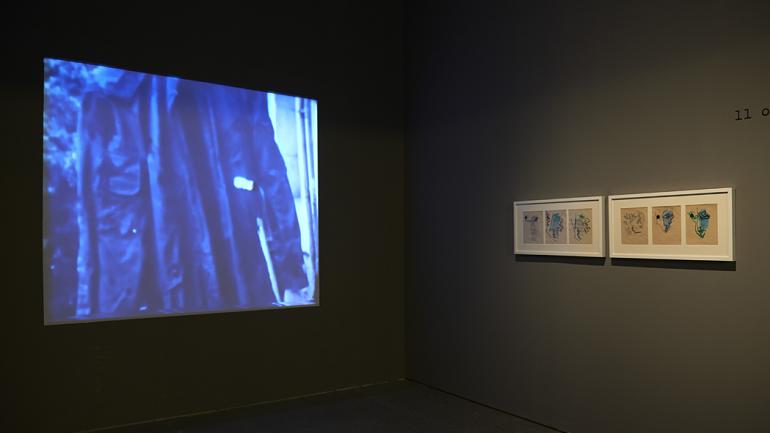 Vista de sala de la exposición Las biografías de Amos Gitai, 2014