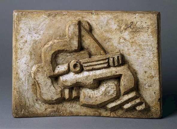 Jacques Lipchitz. Figure with Guitar (Figura con guitarra), 1925. Escultura. Colección Museo Nacional Centro de Arte Reina Sofía