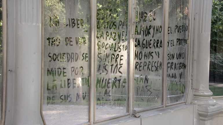 Vista de sala de la exposición. Maja Bajevic. Continuará, 2011