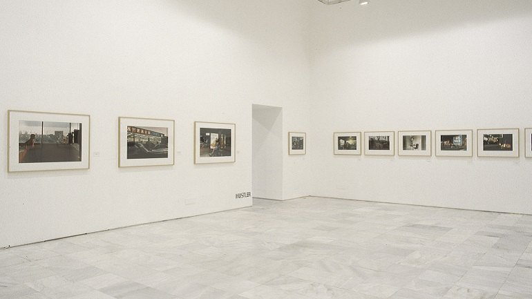 Exhibition view. Philip-Lorca diCorcia. Hustler/ Streetwork, 1997