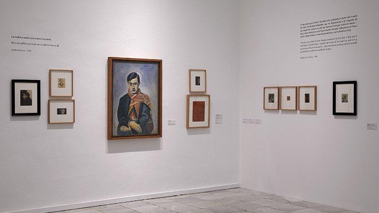 Vista de la exposición Dadá ruso 1914-1924, 2018