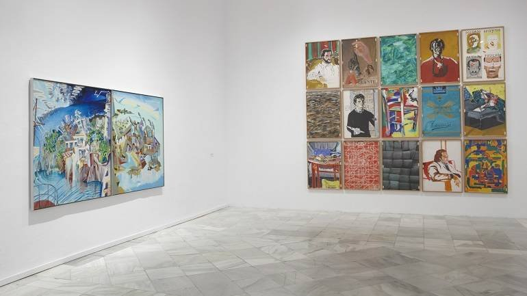 Exhibition view. The Schizos of Madrid. Madrid's Figurative Movement in the 1970s, 2009