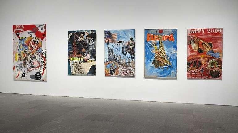 Vista de sala de la exposición Patricia Gadea. Atomic Circus, 2014