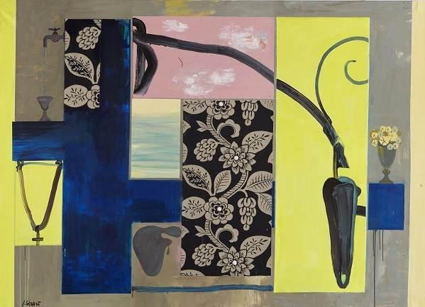 Juan Giralt. Zumo de limón, 2006.  Acrílico y collage sobre lienzo. Colección particular. Imagen: Juan Giralt Ortiz, VEGAP, Madrid, 2015
