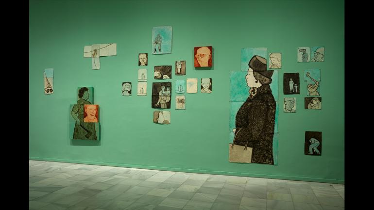View of the exhibition Ida Applebroog. Marginalias, 2021