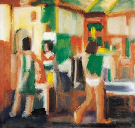 Manolo Quejido, Espejo, 1984. Óleo sobre lienzo, 204 x 218 cm. Cortesía Galería Miguel Marcos, Barcelona. © VEGAP, Madrid, 2013