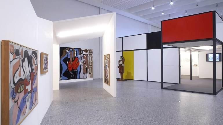 Vista de sala de la exposición. Le Corbusier. Museo y colección Heidi Weber, 2007