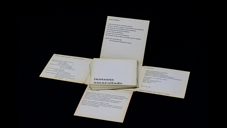 Alfredo Silva-Estrada, Trans-verbales 1 (Trans-Verbals 1), 1969. Design by Carlos Cruz-Diez © Photo: Rafael Guillén (Articruz, Panama) © Sonia Sanoja Foundation - Alfredo Silva Estrada © Estate of Carlos Cruz-Diez / Bridgeman Images, Madrid, 2021