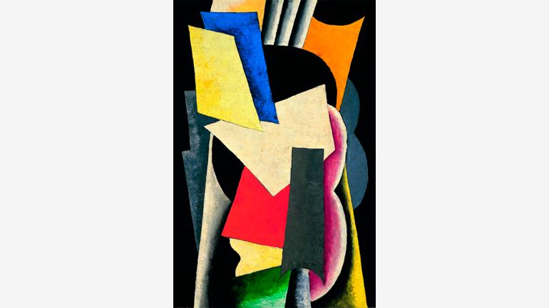 Liubov Popova. Painterly Architectonic (Still Life: Instruments), 1915. Oil on canvas. Museo Thyssen-Bornemisza, Madrid