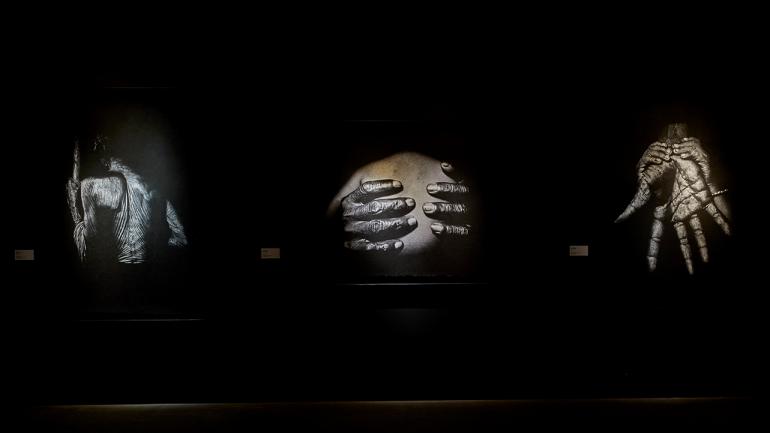 Vista de la exposición Trilogía marroquí 1950-2020