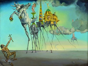 Dalí, La tentation du Saint Antoine, 1946 © Salvador Dalí, Fundació Gala-Salvador Dalí, VEGAP, Madrid, 2013