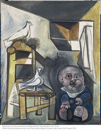 Pablo Picasso. El niño con palomas, 1943.