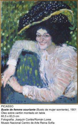 Busto de mujer sonriente (1901). Picasso