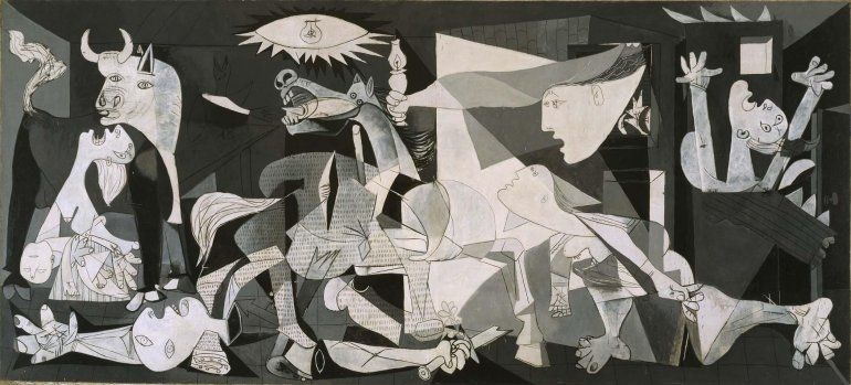 Pablo Picasso. Guernica, 1937. Oil on canvas. Museo Nacional Centro de Arte Reina Sofía collection, Madrid
