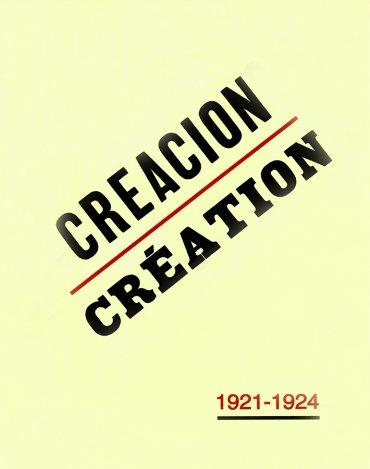 Revista Creación/Création 1921-1924