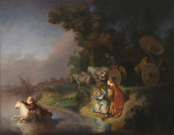 Rembrandt. El Rapto de Europa. Óleo sobre panel. 1632. Imagen digital cortesía del Getty's Open Content Program, The Paul Getty Museum