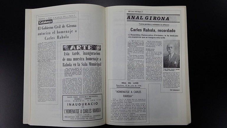 Homenatge a Carles Rahola, 1881-1939: del 15 al 24 de setembre del 1976, Fundació Miró (Parc de Montjuic), Barcelona. Girona: ADAG, Assemblea Democràtica d'Artistes de Girona, 1976. Fondo ADAG. Centro de Documentación