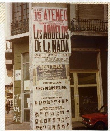 Afiche Niños desaparecidos. Buenos Aires. Derechos Humanos // Archivo en uso