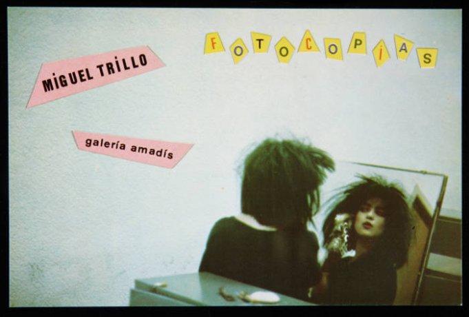 """Miguel Trillo. Invitación a la exposición """"Fotocopias"""" en la Galería Amadís (1983). Archivo Miguel Trillo. Centro de Documentación"""