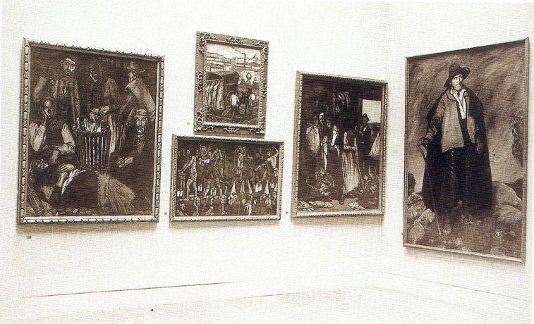 Exposición Internacional de Pintura en el Carnegie Institute de Pittsburg, sala nº 7. 1927. Archivo Solana. Centro de Documentación