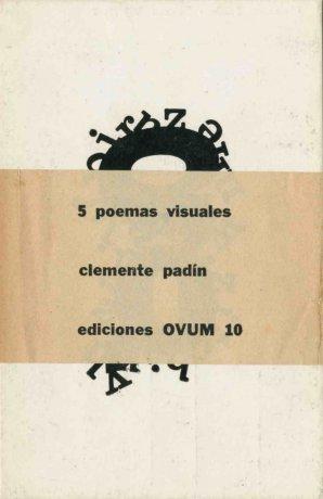 Clemente Padín. 5 poemas visuales. Postales, edición OVUM 10, 1969. Archivo Clemente Padín (UDELAR, Montevideo)