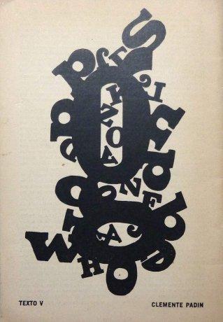 Texto V, poesía visual de Clemente Padín. Contracubierta de OVUM 10 Nº 1. Archivo Clemente Padín (UDELAR, Montevideo)